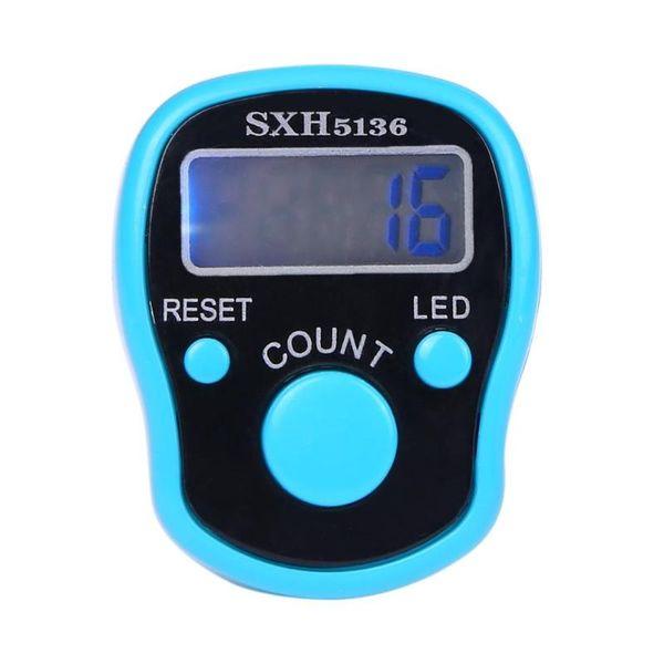 Stitch Marker l'anello di barretta Manuale contatore LED Night Light Tally contatore elettronico Mini Digital