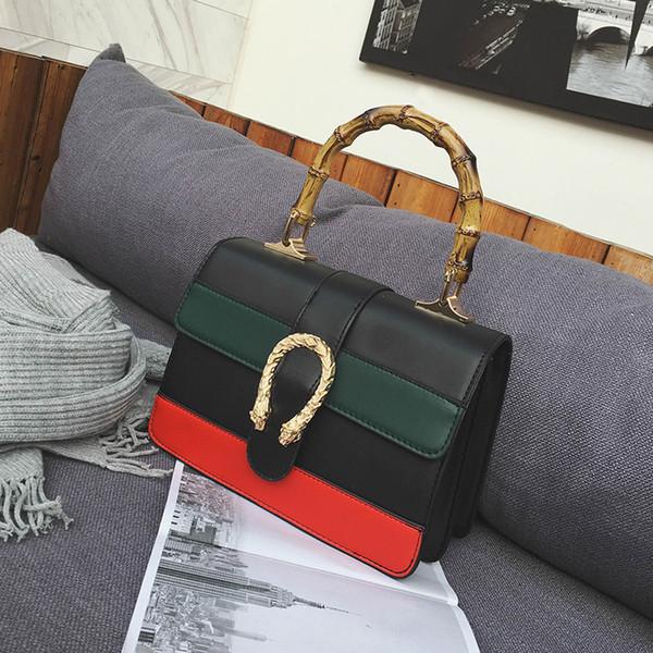 Bolso bolso del diseñador 2019 nuevas mujeres bolsa de mensajero de las mujeres designer- cuerpo cruz bolso bolsas de mano con asa de bambú