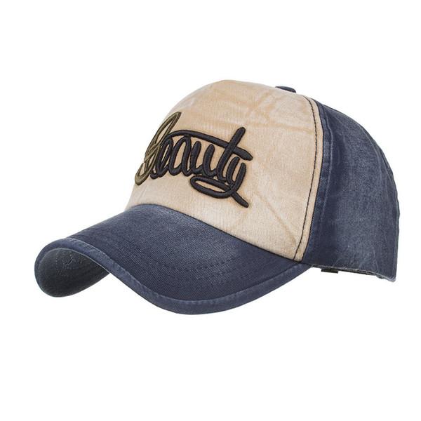Unisex Letters Pattern Hat Denim Baseball Cap Snapback HipHop Visor Sun Flat Hat