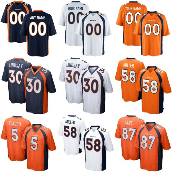 half off 5934f 29b6f 2019 Broncos Mens Womens Youth Denver Jersey 30 Phillip Lindsay 58 Von  Miller 5 Joe Flacco 87 Noah Fant 55 Bradley Chubb Football Jerseys From ...