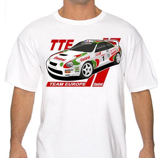 Klasik Celica Toptan Ekibi avrupa Ralli T Gömlek Beyaz veya Gri GT-Four ST205 Wrc