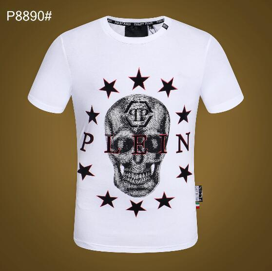 In 2019, the new high quality new fashion European T-shirt men's party luxury brand clothing line, with the letter leisure T-shirt #6809