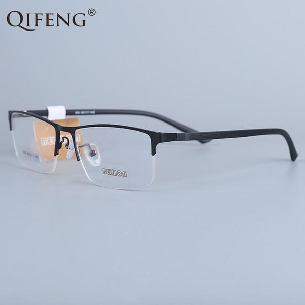 QIFENG Spectacle Frame Eyeglasses Men Korean Computer Optical Myopia Eye Glasses Frame For Male Transparent Clear Lens ZL030
