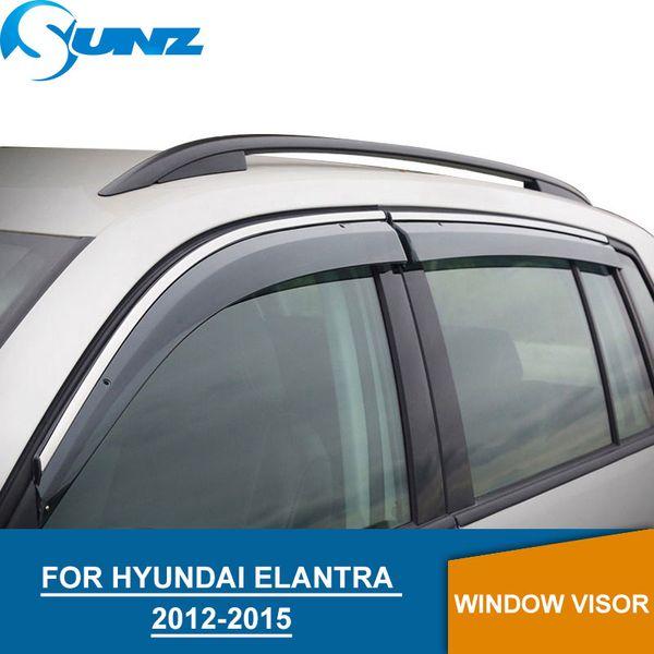Visera ventana para Hyundai Elantra 2012-2015 ventana lateral deflectores guardias de lluvia para Hyundai Elantra 2012-2015 sunz