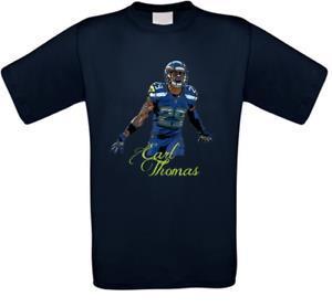 Earl Thomas Seattle Futebol Americano Camiseta Tutte le Taglie Nuovo