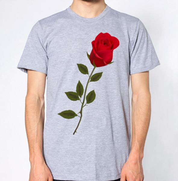 Red Rose T-Shirt Tees Custom Jersey t shirt hoodie hip hop t-shirt jacket croatia leather tshirt jersey Print t-shirt