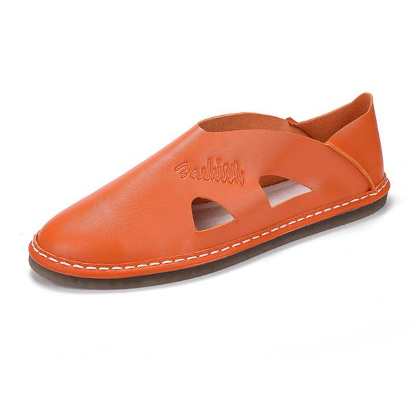 Zapatos de los hombres sandalias de moda de verano para hombre Resbalón en los zapatos respirables masculinos sandalias del vestido sólido envío gratis LY677O