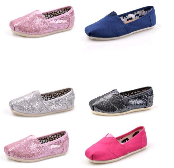 Hot sell Fashion Sneakers flat TOM Casual Flat shoes Sneakers for boys girls kids Breathable Casual Canvas Shoes children glitter shoes