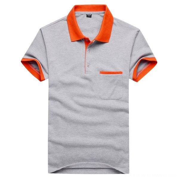 grigio mandarino collare con tasca