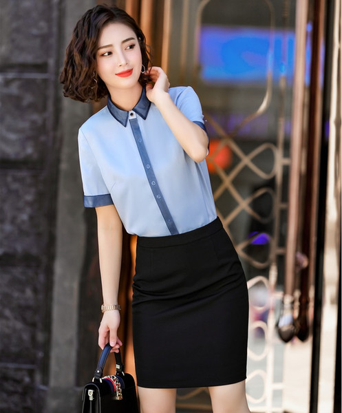 Formal 2 Piece Set Women Business Suits With Skirt and Tops For Women Office Work Wear OL Styles Blouses and Shirts Sets