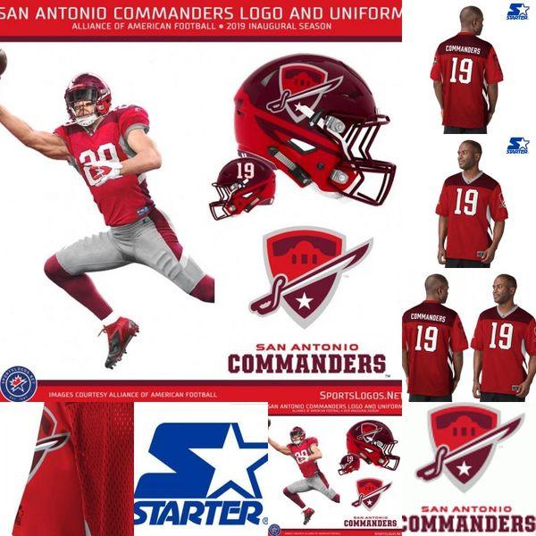Mens San Antonio Commanders Jersey 12 Marquise Williams 22 Aaron Green 96 Winston Craig Orion Stewart Alliance of American Football Jerseys