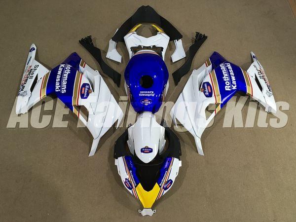 New ABS Injection Full Fairing kits For Kawasaki Ninja300 13 14 15 16 17 Ninja 300 EX300 2013 2014 2015 2016 2017+Tank cover Rothmans