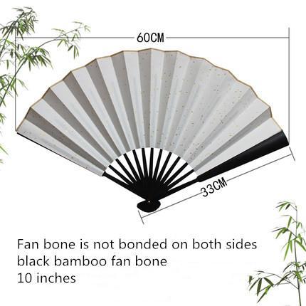 """10"""" black bamboo fan bone"""