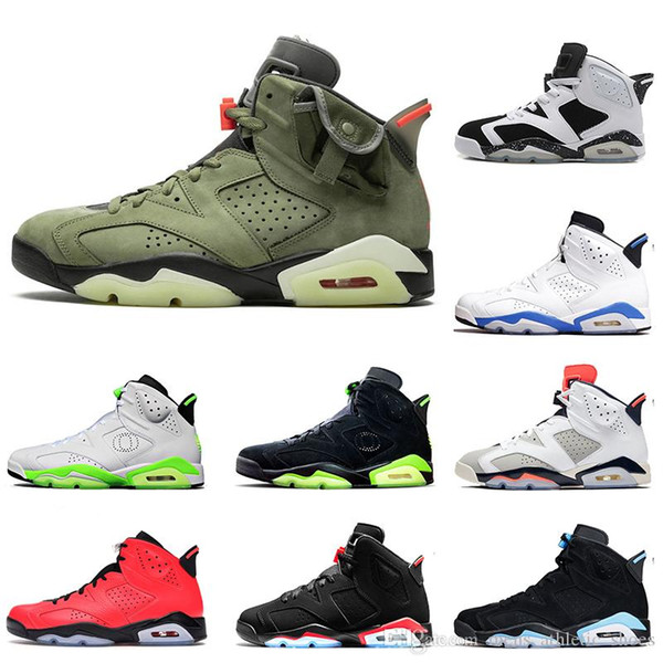 High Quality Mens Jumpman Travis Scott 6 6s Basketball Shoes GS Black Infrared 2019 Oregon Ducks PE White Infrared Sports Trainers Sneakers