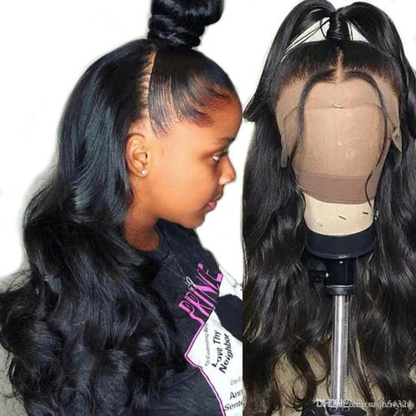 360 moda Lace Wig frontal brasileira dianteira do laço de cabelo humano Perucas Reta Arrancado mulheres branqueados