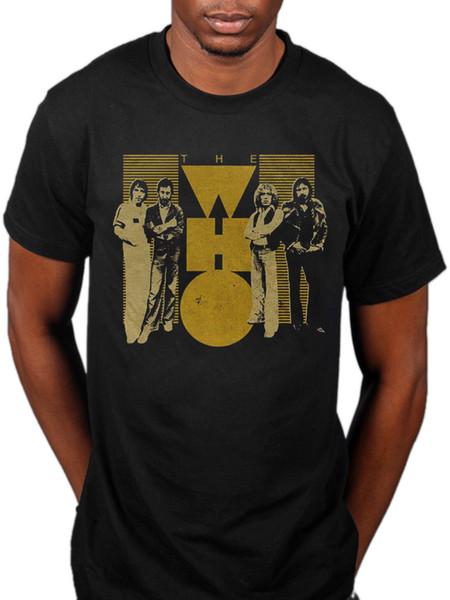 Oficial de The Who camiseta amarilla The Who by Numbers Face Dances Endless Wire Hombres Mujeres Unisex camiseta de moda Envío gratis negro