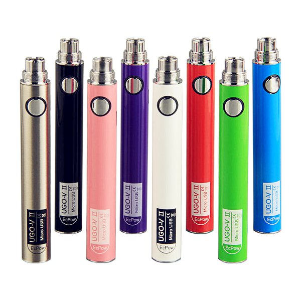 Original Vape UGO-VII Micro USB Passthough 650 900 mAh Battery EVOD eGo T 510 Thread Vape Pen Electronic Cigarette