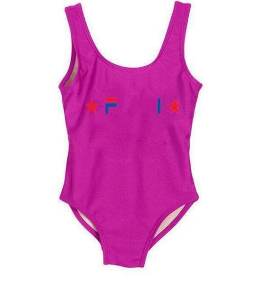 Nuevo vendedor de verano de una pieza para bebés monos trajes de baño impresión carta traje de baño niños ropa de playa Nadar