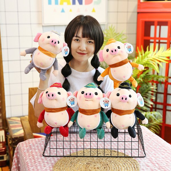 2019 Year of The Pig Creative Stuffed Toys Pigsy Doll Cute Plush Toy Doll Pendant Birthday Gift Toys for Children Five Colors