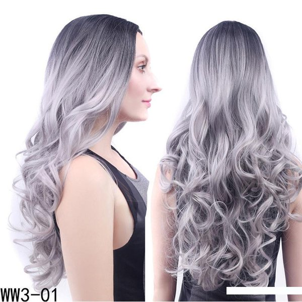 New arrival ombre colors hair jewelry 300g 60cm synthetic hair accessories extension wear as big wave wigs