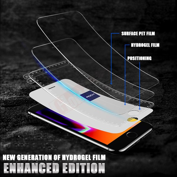 For 0.15mm Hydrogel Membrane Film For iPhone 8 7 Plus 6 6s Plus X With tool Screen Protector film For iPhoneX