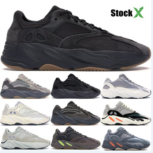 Avec Box 700 V2 Vague Coureur Geode Inertia Gris Solide Vanta Geode Statique Mauve Hommes Femmes Kanye West Running Chaussures Designer Baskets 36-46