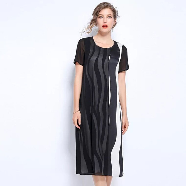 Plus Size Dress L 5XL Large Size Women Black White Dress OL Clothing Office  Lady Holiday Strapless Dresses Chiffon Dress From Sebastiani, $52.13  ...