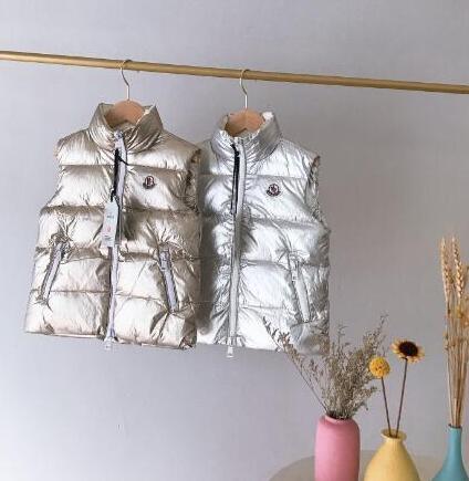 marca caliente M Kids Invierno Espesar chalecos imágenes de dibujos animados bebé 90% pato abajo de la chaqueta de la capa para niños Chaleco