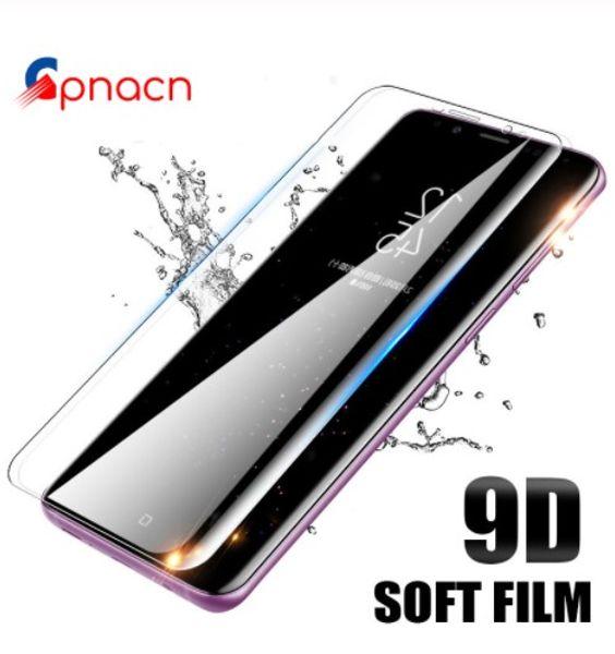 Samsung Galaxy S8 S9 Artı Not For Samsung'un s10 s10plus 9D Kavisli Yumuşak Film 8 9 S7 Kenar Ekran Koruyucu Koruma Filmi Örneği
