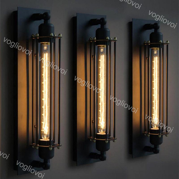 best selling Wall Lamps Loft Vintage American Industrial Edison E27 Bed Hallway Decoration Lighting DHL