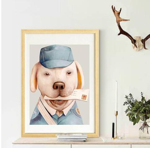 2019 Hot sales Wholesales Free shipping Modern Huge Wall Art Oil Painting On Canvas Delivery Dog Unframed Room Decor