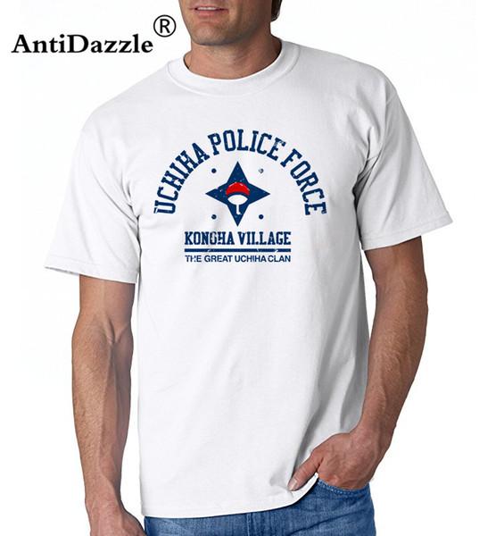 Streetwear largas camisetas hacer que los hombres de Naruto con camisas para hombre de la Academia Uchiha Crea tu propia ropa precio barato