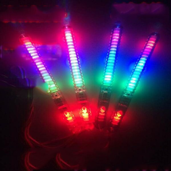 Multi Colorful 7 Modes LED Flashing Night Light Lamp Glow Wand Sticks + Strap Birthday Christmas Party Festival Camp