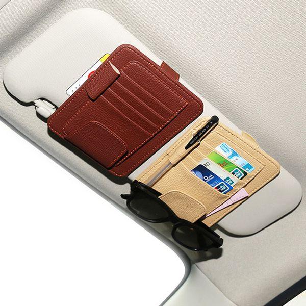 Car Styling Auto Car Sun Visor Clip for Sun Glasses Sunglasses Pen Holder Clip Storage Bag Fastener Mat
