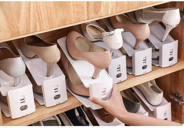 Usage domestique Range-chaussures Moderne Double Nettoyage Range-Chaussures De Rangement Salon Pratique Shoebox Chaussures Organisateur Stand Tablette