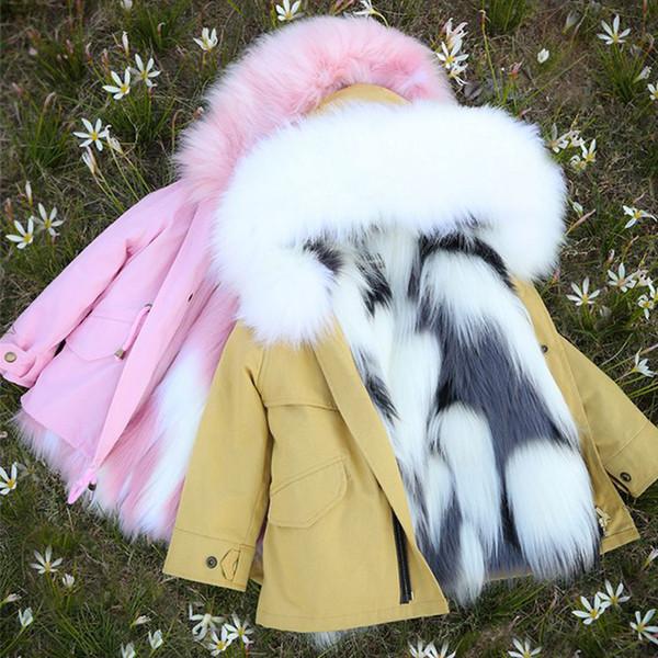 Girl Clothing Winter Jacket Thicken Warmer Girls Winter Coat Hooded Velour Winter Girls Jackets Outwear