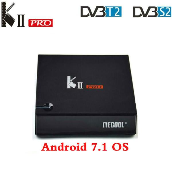 MECOOL KII PRO Android 7.1.1 TV Box DVB-S2 DVB-T2 K2 PRO Amlogic S905D Quad Core 2G16G 4K Cline NEWCAMD 2.4 / 5GHz Dual Wifi