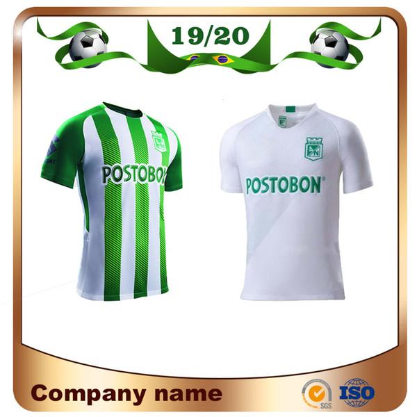 Nuevo 2020 Atlético Nacional Medellin Soccer Jersey 19/20 Medellín Local H.BARCOS TORRES Camiseta de fútbol de visitante RENTERIA LUCUMI Uniforme de fútbol