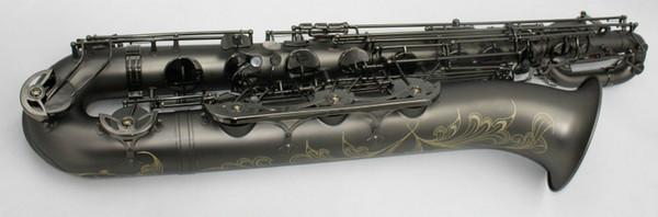 YANAGISAWA New Brass Saxofone Barítono Único Preto Niquelado Sax Instrumentos Musicais com Mouthpeiece Frete Grátis