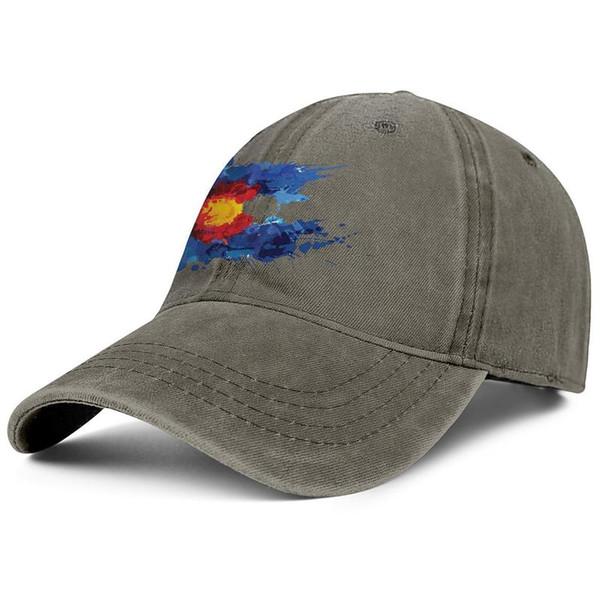 Lizenzfreie Colorado-Flaggen-Kunstmänner Sport-Denim-Baseball-Mütze lustige justierbare Frauentanzkappe druckte Vati-Kappenmaschenhüte