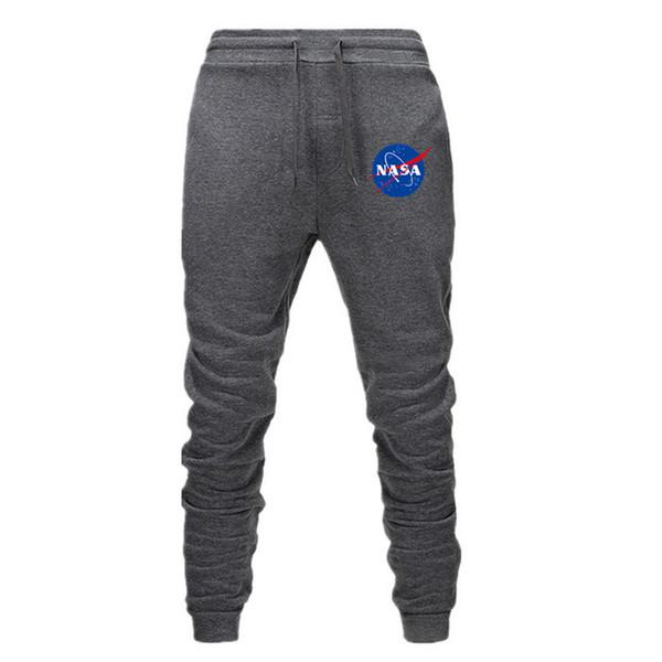 Mens High Street Designer de Moda Calças Sweatpants HERON PRESTON NASA Casuais Calças Compridas Homens Pretos Hip Hop Sweatpants
