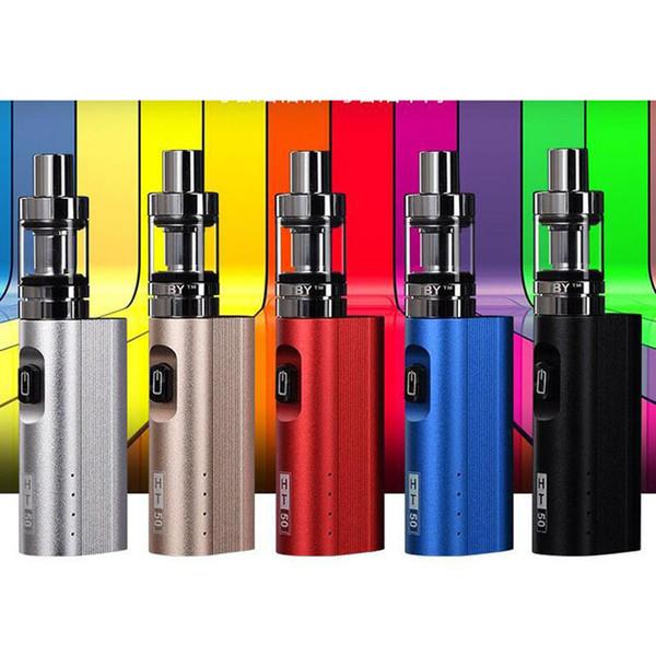 Authentic HT 50 electronic cigarette mods kit 2200mah 50w e-cigarette box mod 510 thread 3.0ML tank electronic hookah vaper pen kit DHL