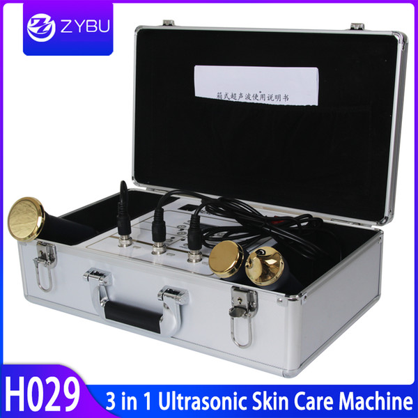 Ultrasonic Facial Care Skin Lifting Ultrasonic Liposuction Machine With 3 Probe For Eyes Face Body 1Mhz 3Mhz Ultrasound Beauty Equipment