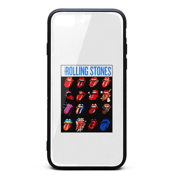IPhone 8 Plus Hülle, iPhone 7 Plus Hülle Das Rolling Stones Evolution Blue und Lonesome 9H TPU-Telefon mit Schutz vor Sturz