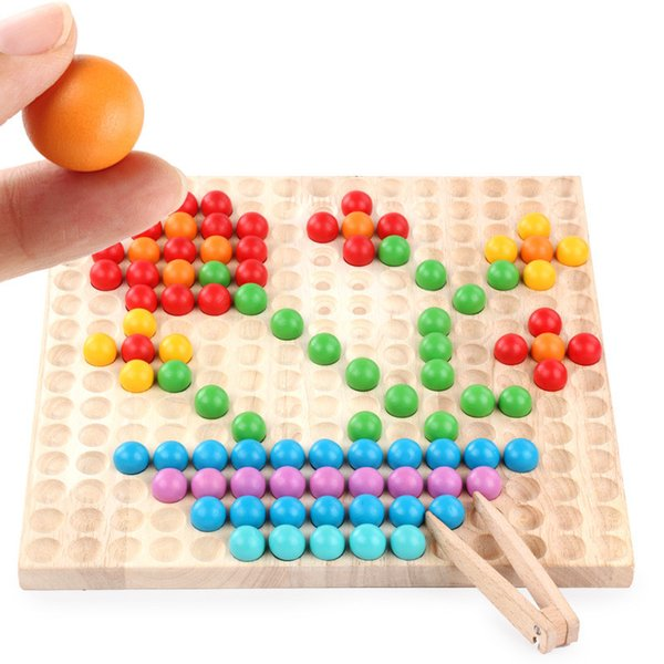 Children Catching Ball Toy Creative Personalized Jigsaw Early Education Puzzle Wood Beads Kids Intelligence Games