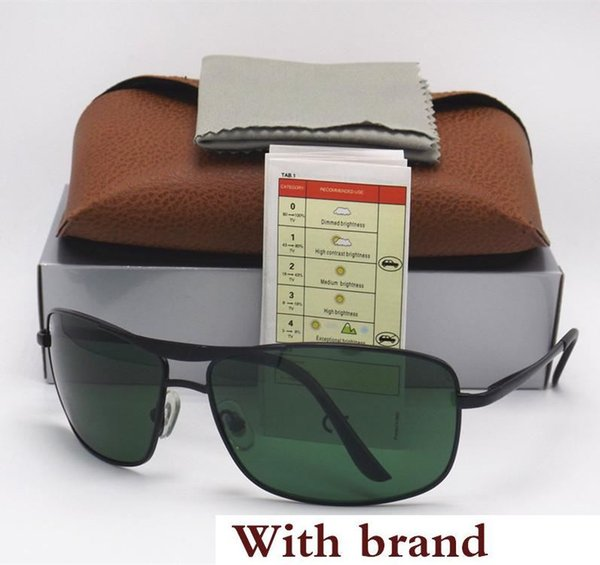 High Quality Fashion Best Selling Fashion Rectangle Sunglasses For Mens Womens Eyewear 64MM Sun Glasses 8013 Gold Metal Glass Lenses