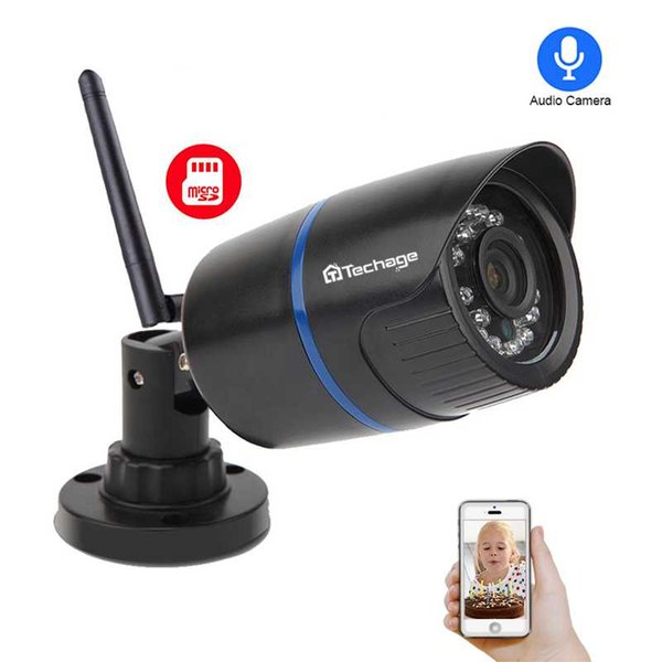Techage Yoosee 1080P 720P Wifi Wireless IP Camera Night Vision Video Audio Sound SD Card Record Home Security CCTV Surveillance