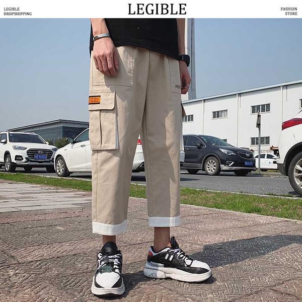 legible cargo pants men oversize 2019 mens pockets straight harem joggers pants man hiphop fashion casual sweatpants