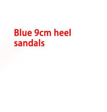 talón 9cm azul