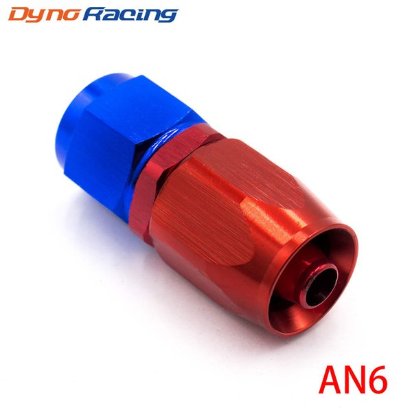 top popular AN Fitting AN 06 Aluminum Fittings 0 Degree Oil Fuel Swivel hose fittings Swivel Hose End Fitting 2021